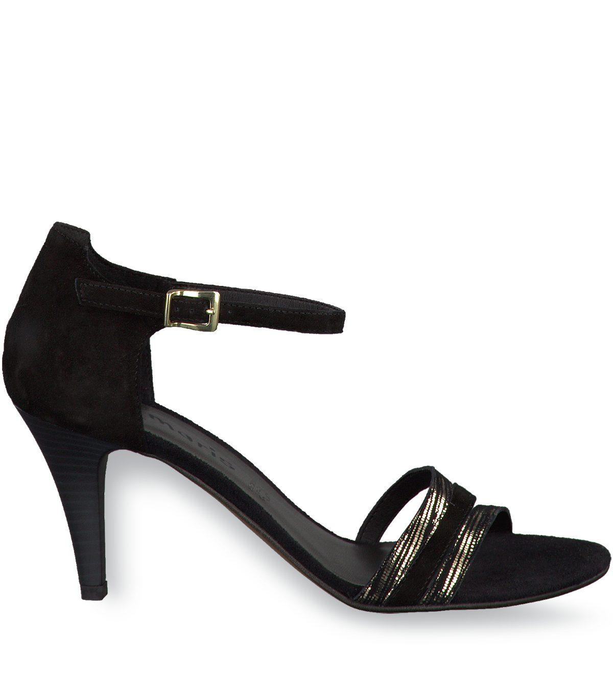 tamaris sandaletten grace schwarz metallic g nstig schnell einkaufen. Black Bedroom Furniture Sets. Home Design Ideas